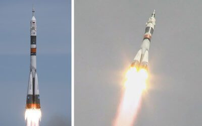 Soyuz MS-04 mission to ISS launches with just two crew aboard