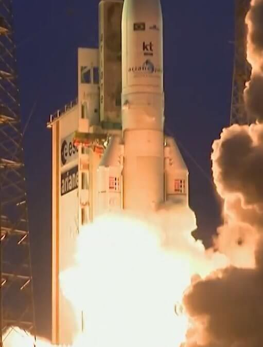 Arianespace is back in play after protests with successful Ariane 5 launch of SGDC 1 and Koreasat 7
