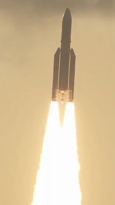Ariane 5 posts 80th consecutive launch success as it lofts two comsats