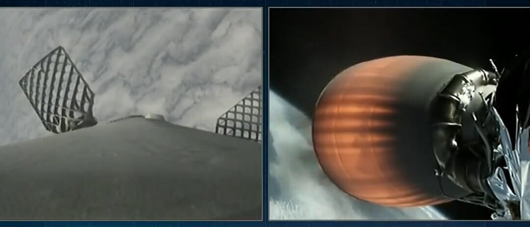 Falcon 9 launches Iridium satellites from Vandenberg using reusable first stage with new titanium grid fins