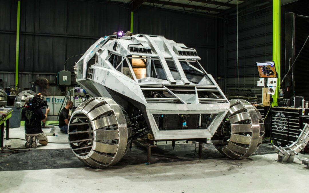 NASA debuts concept design for manned Mars rover