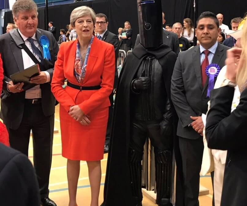 On a lighter note: Judge a Prime Minister by the company she keeps…Intergalactic Space Lords apparently