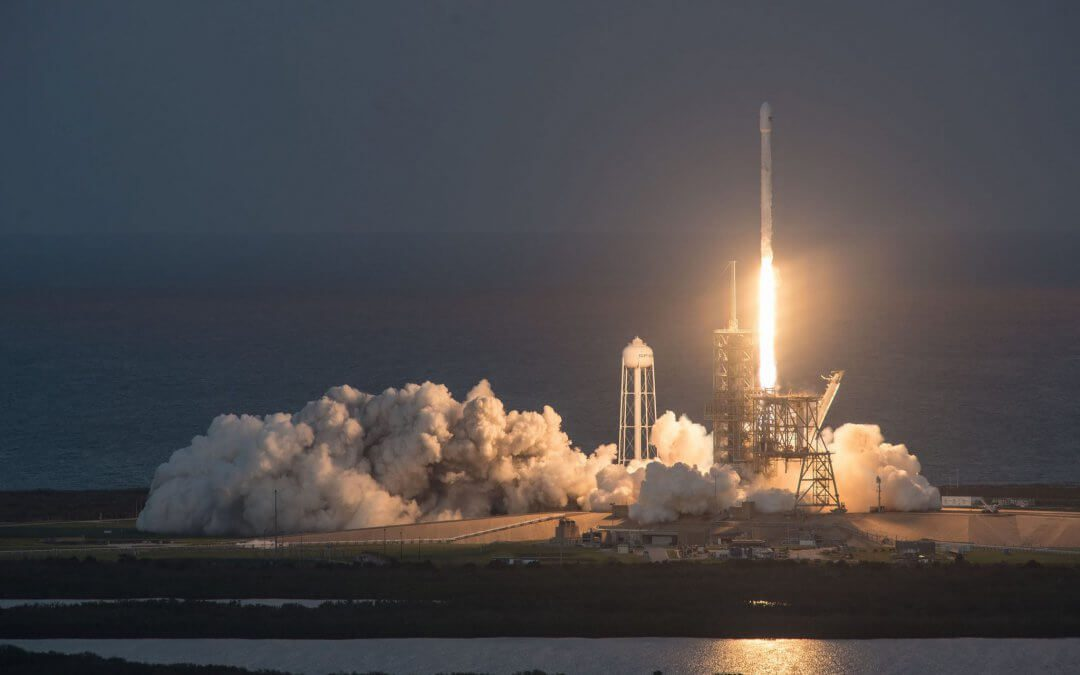 """SpaceX Falcon 9 uses its third re-flown first stage to orbit EchoStar 105/SES-11 """"condosat"""""""
