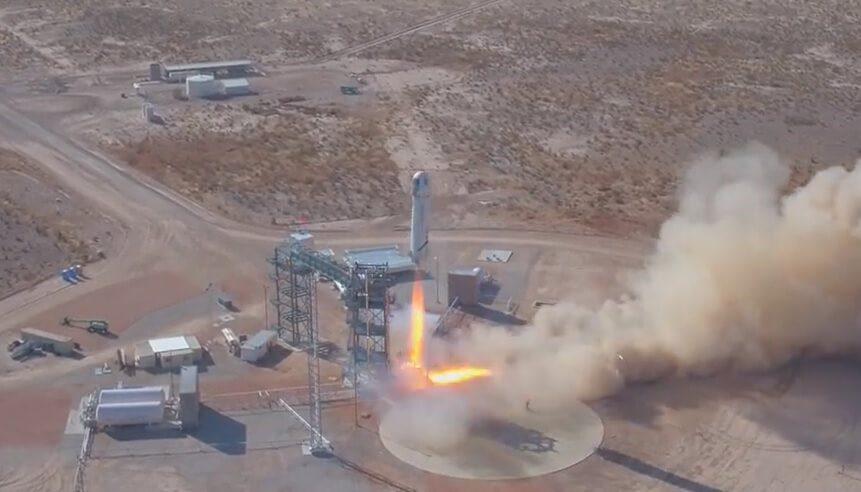 New version of New Shepard and capsule does not quite hit 100km but lands safely