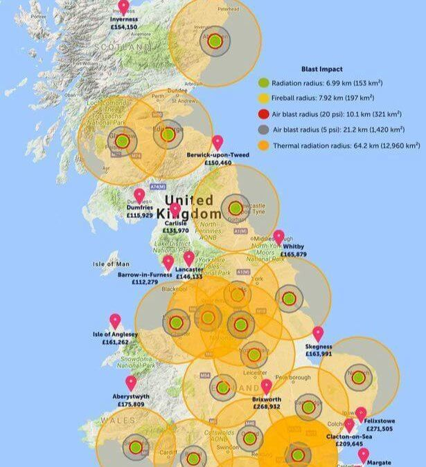 On a Lighter Note: Estate agent launches UK nuclear war risk map just in time
