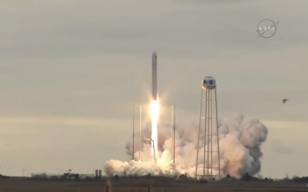 Orbital ATK Antares 230 launches the CYGNUS OA-8 cargo craft to the ISS