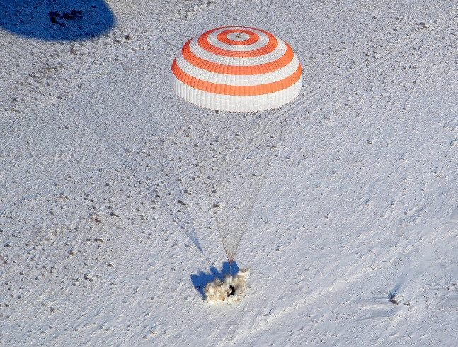 Soyuz MS-06 craft carrying one cosmonaut and two astronauts returns to Earth