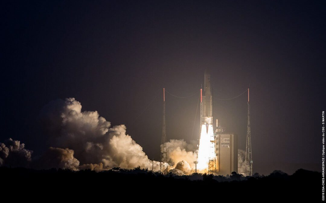 Back in play: Ariane 5 has successful launch of DSN-1/Superbird 8 and Hylas 4