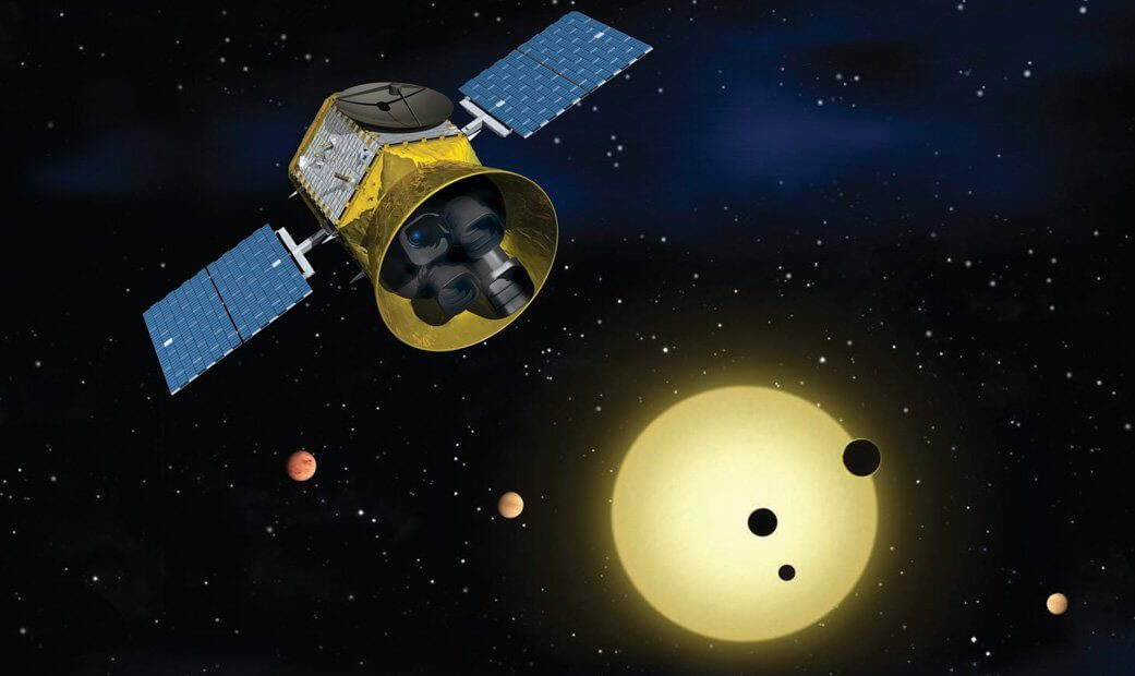 Falcon 9 launches Transiting Exoplanet Survey Satellite (TESS) to position near the Moon