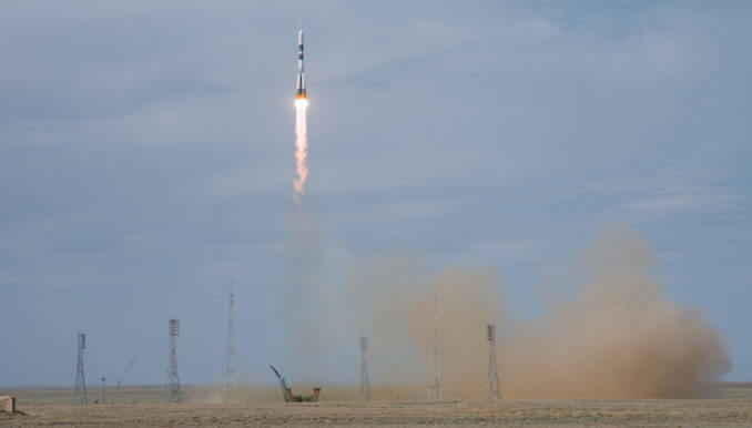 Soyuz MS-09 takes three to ISS