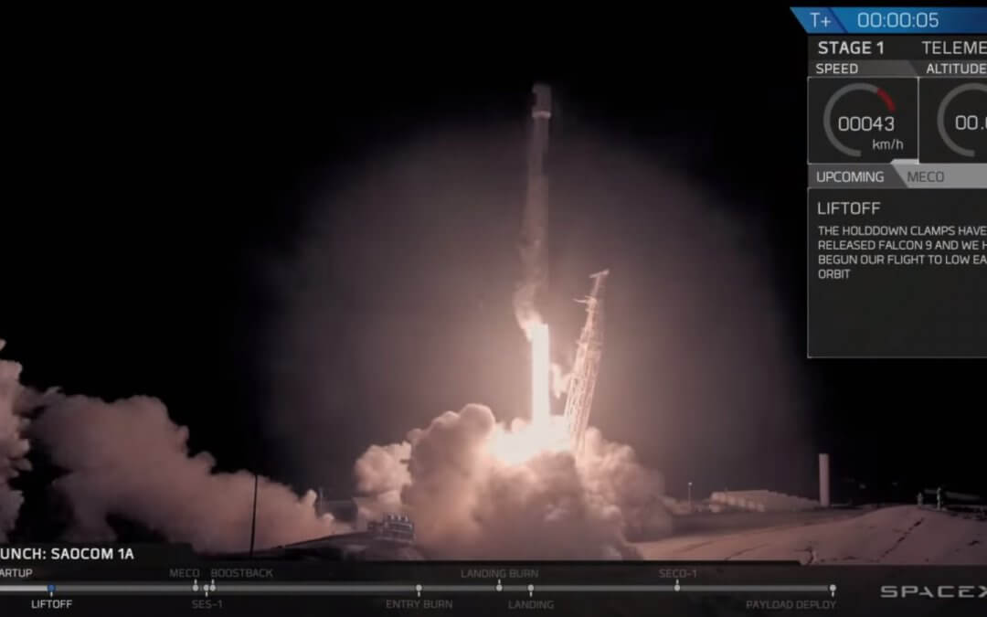 SpaceX launches Argentinian SAR satellite and christens new West Coast landing pad