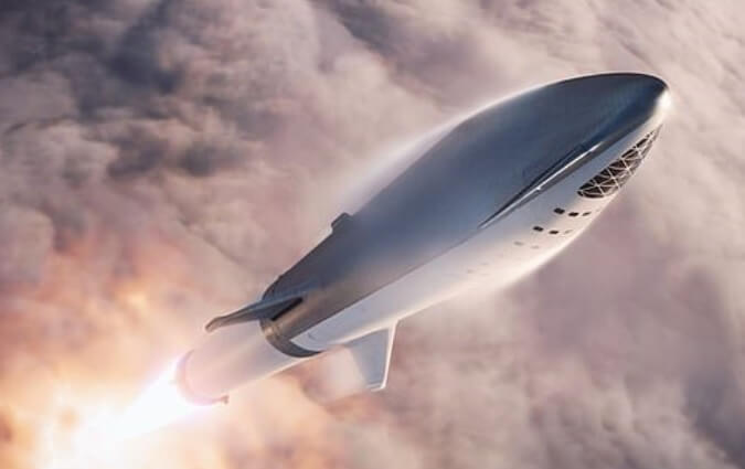 "Musk announces that a scaled down BFS will be used on Falcon 9 to test re-entry technologies…then renames BFS ""Starship"""