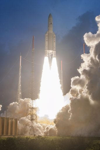 Ariane 5 ECA successfully launches GSAT-11 comsat for India and GEO KOMPSAT-2A weather sat for South Korea
