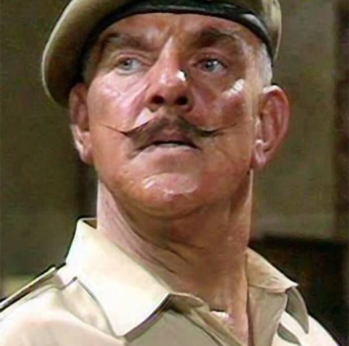 On a sadder note: a valedictory salute to archetypal British Army Sergeant Major comedy actor Windsor Davies
