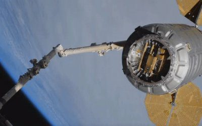 Cygnus NG-10 (John Young) space freighter is released from ISS to start secondary sat delivery mission