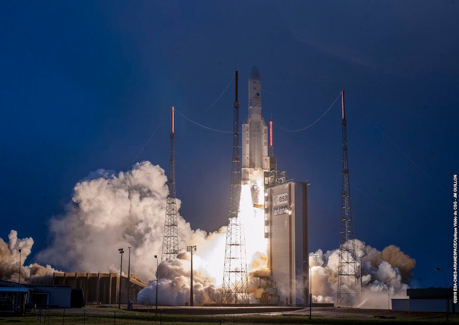 Ariane 5 rocket puts two safely into orbit: Hellas-Sat 4/SaudiGEOSat-1 & GSAT-31