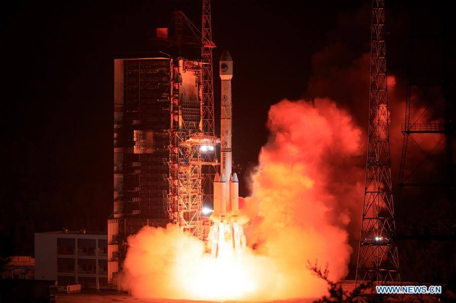 Beidou-3 IGSO-2 is launched on way to very inclined geosynchronous Earth orbit by Long March 3B