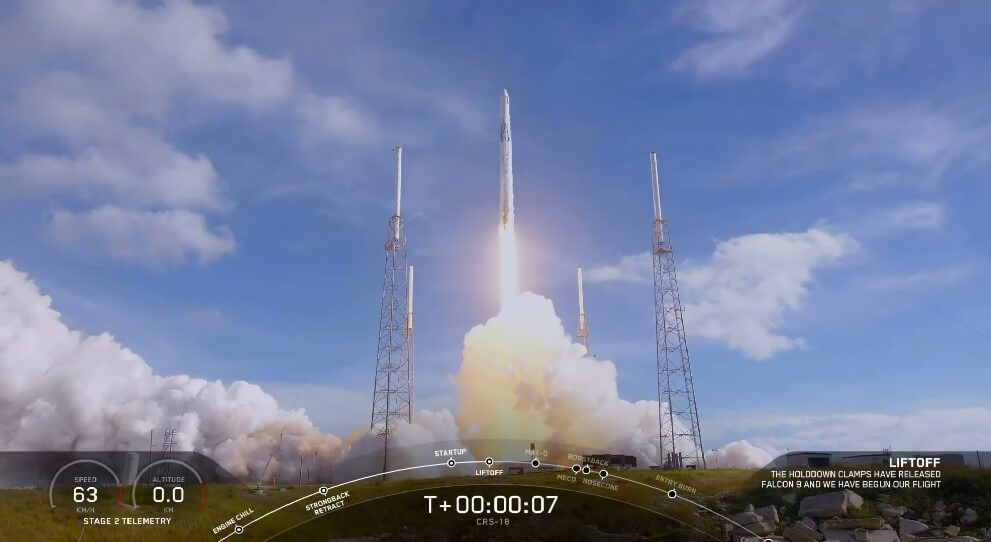 SpaceX Dragon CRS-18 resupply mission launched from Cape Canaveral