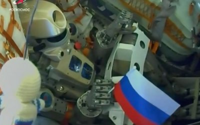 Soyuz MS-14 is launched by Soyuz 2.1a with no-one aboard but a robot in the commanders seat
