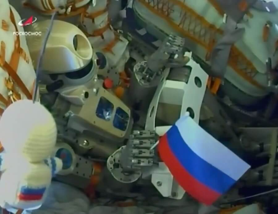 Soyuz MS-14 is launched by Soyuz 2.1a with no-one aboard but a robot…but the docking problems were not his fault