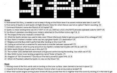 Belated news: Our Apollo 11 crossword is now corrected…and we also publish its solution…