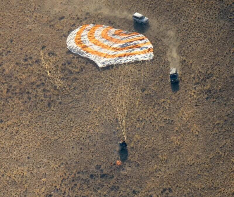Soyuz MS-12 undocks from ISS and lands safely with three crew aboard