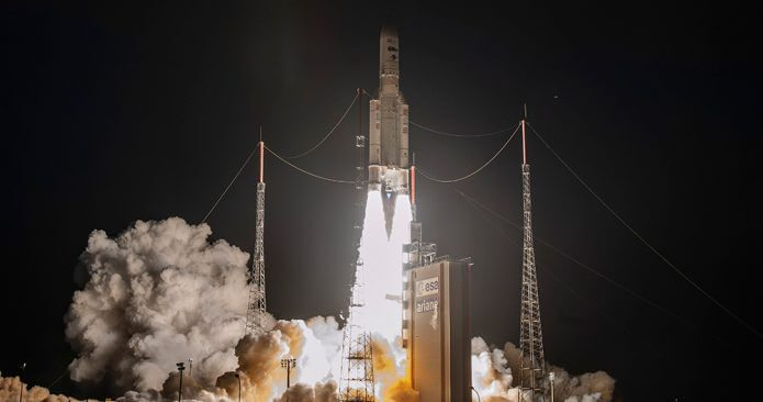 Ariane 5 ECA successfully launches TIBA-1 and Inmarsat 5-F5 communications satellites