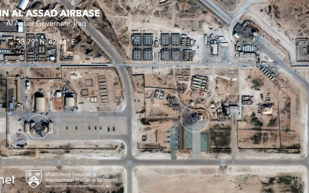 Following US assassination of Iran's top general US satellites witness its missile retaliation and its later accidental shooting down of airliner (Updated)