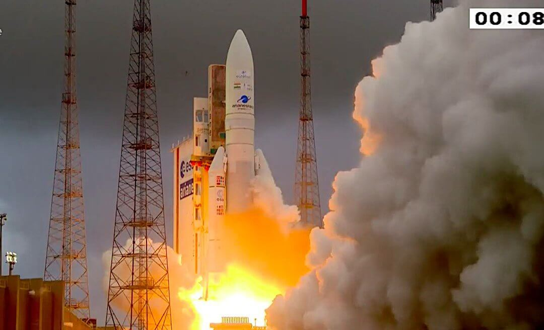 Ariane 5 ECA launches comsat pair Eutelsat Konnect and GSAT-30