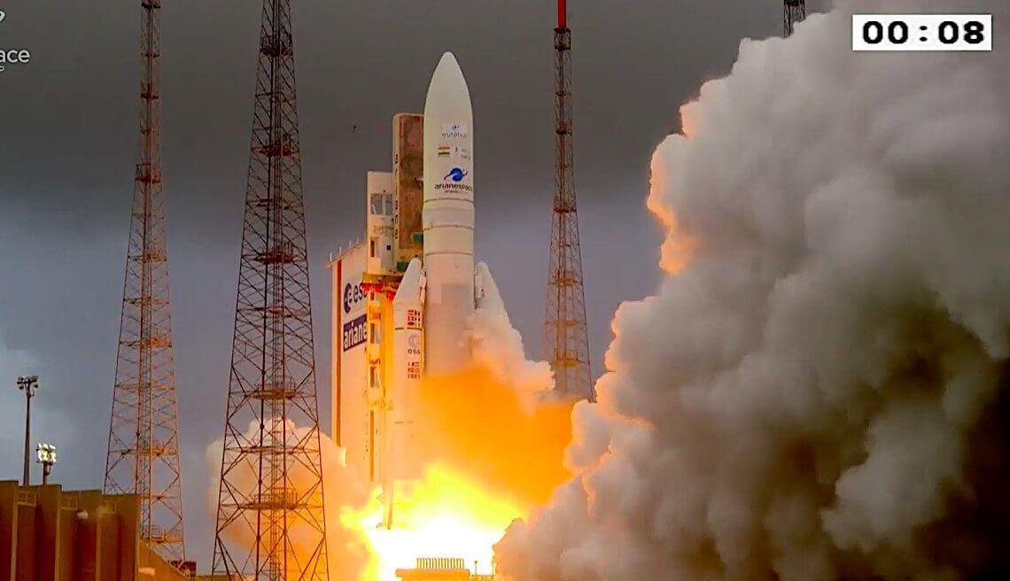 Ariane 5 ECA launches comsat pair Eutelsat Konnect and GSAT-30