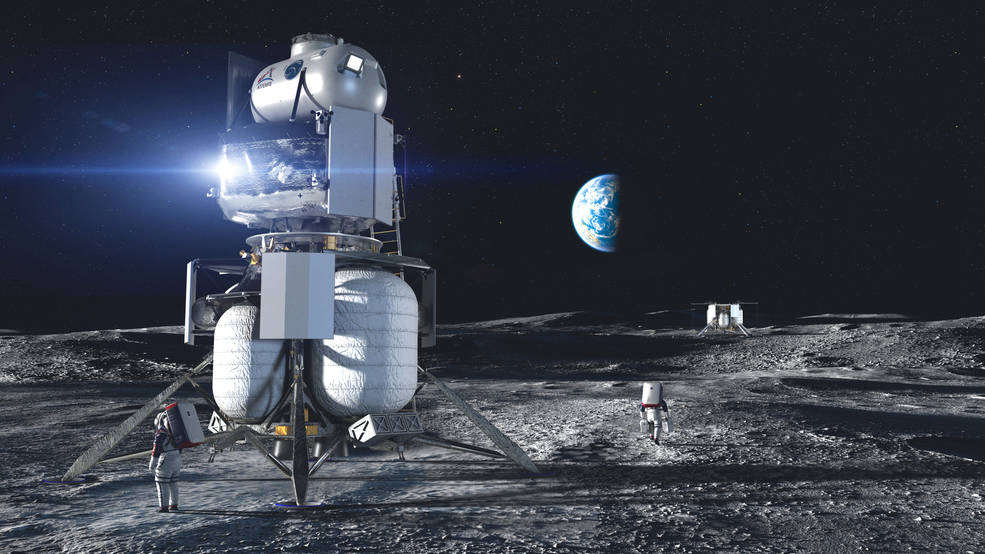NASA picks Blue Origin, Dynetics and SpaceX as teams to build its human lunar landers…then NASA's Loverro quits over procurement