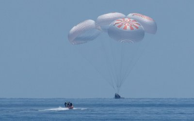 After safe splashdown SpaceX thanks NASA astronauts on Crew Dragon for flying with them