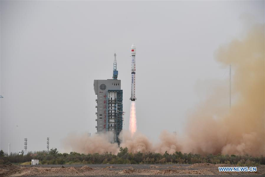 Hai Yang 2C ocean sensing satellite is launched by Long March 4B for China