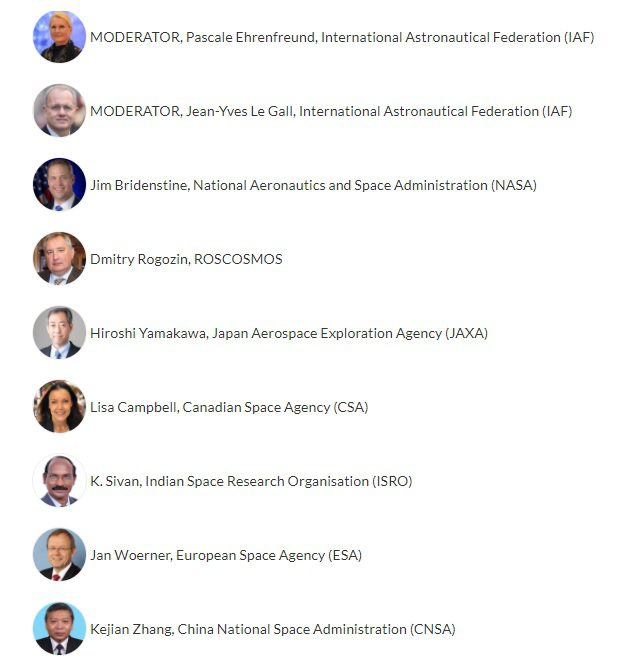 IAC 2020 Online: Space Agency chiefs note Covid-19 problems and solutions…and their space cooperation attempts