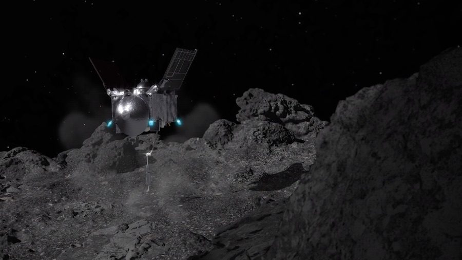 NASA OSIRIS-Rex mission successfully lands on asteroid Bennu samples it and leaves…but there is trouble