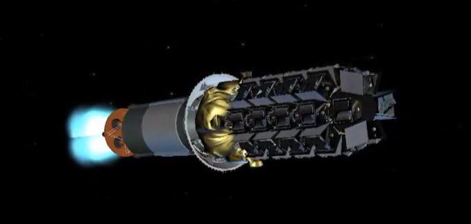 Soyuz 2.1b/Fregat launches 36 OneWeb satellites from Vostochny