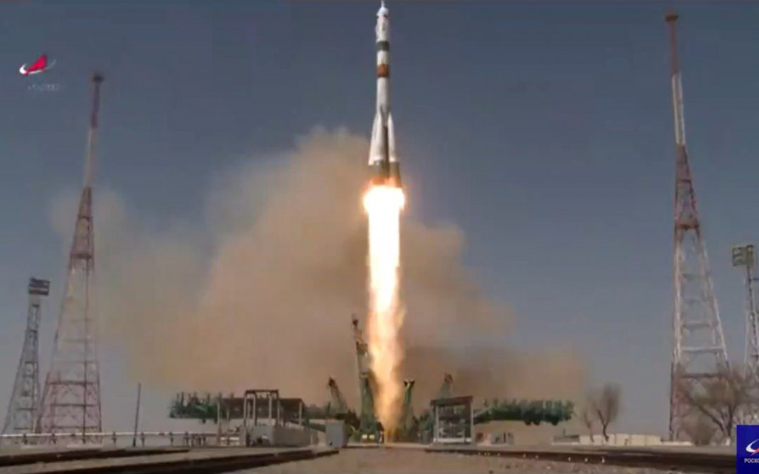 Soyuz MS-18 mission carries three crew members to the ISS