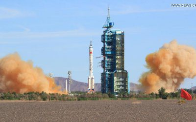 China launches space station crew