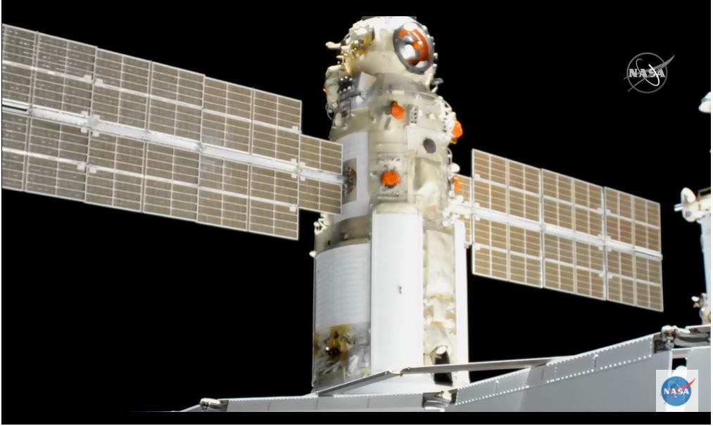 20 ton Nauka module successfully docks with ISS but later causes scare with misfiring thrusters (Updated)