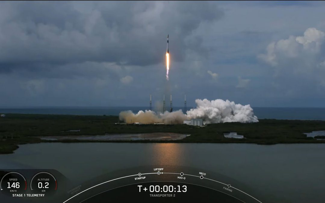 SpaceX launches large rideshare mission