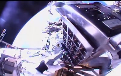 Astronauts prepare the ISS for next solar upgrade